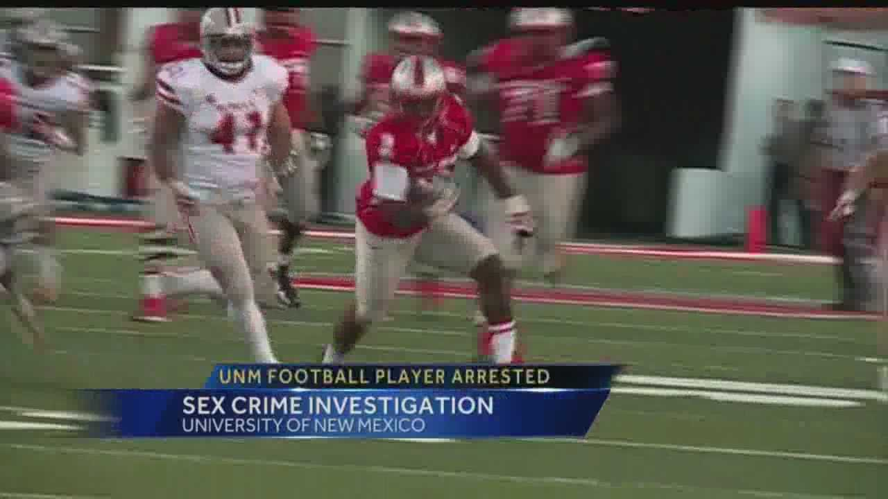 A University of New Mexico football player has been arrested and charged with criminal sexual penetration.