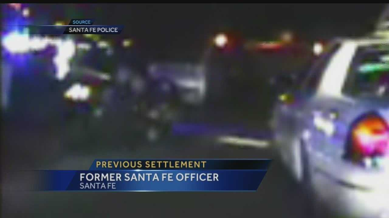 We've learned tonight a former Santa Fe Police Officer accused of using excessive force on a cab driver, was also at the center of a civil lawsuit less than a year ago.