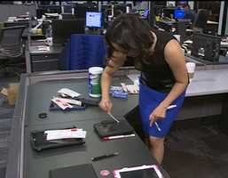 We swabbed a total of seven phones and tablets of KOAT employees to see if all that talking, typing and tapping turned our beloved technology into germ magnets.