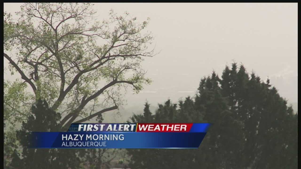 Thick dust and haze forced the city to issue a poor air quality alert that will last until 1 p.m. Wednesday.