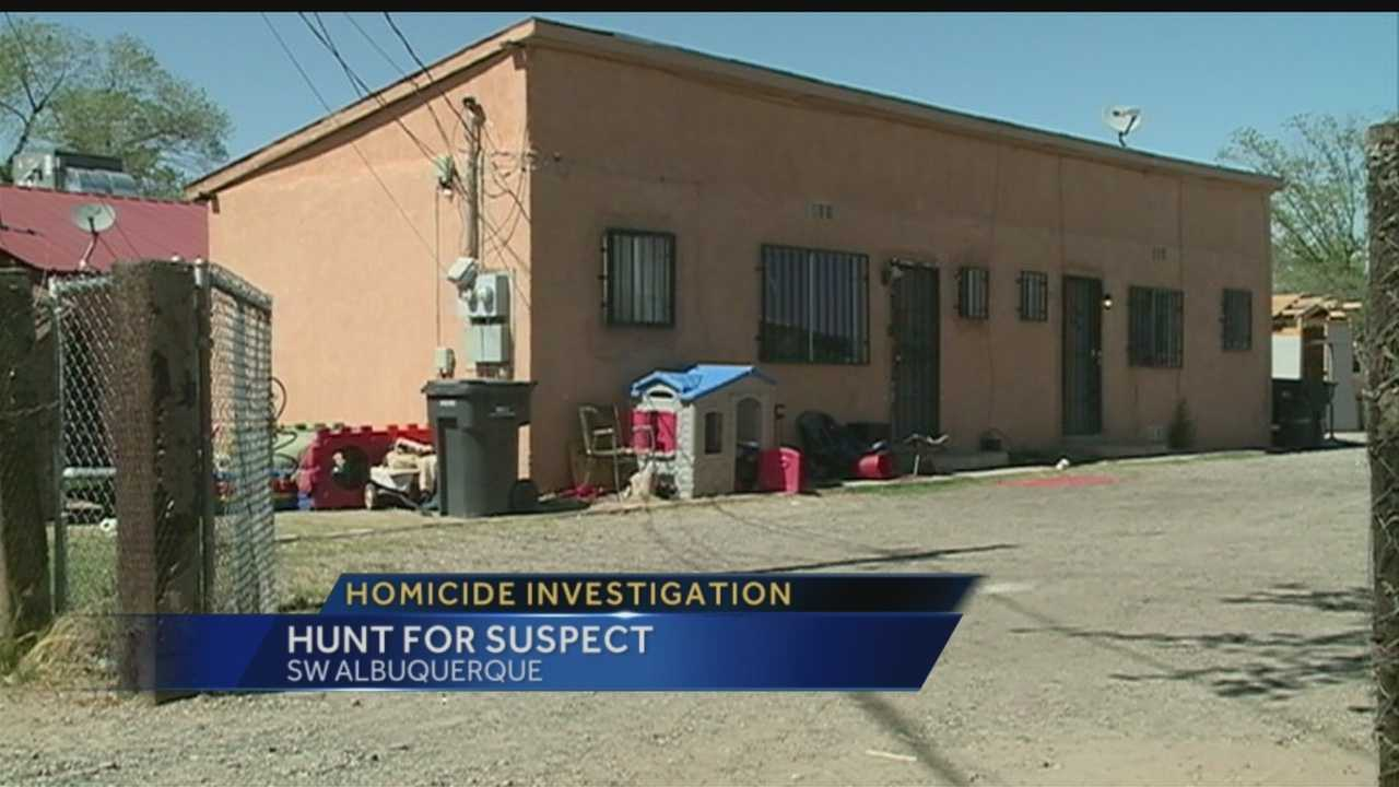 Deputies say a homicide suspect is on the loose tonight, after a deadly shooting in Southwest Albuquerque.