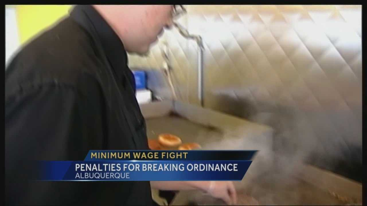 Businesses in Albuquerque need to follow the minimum wage rules, or else.