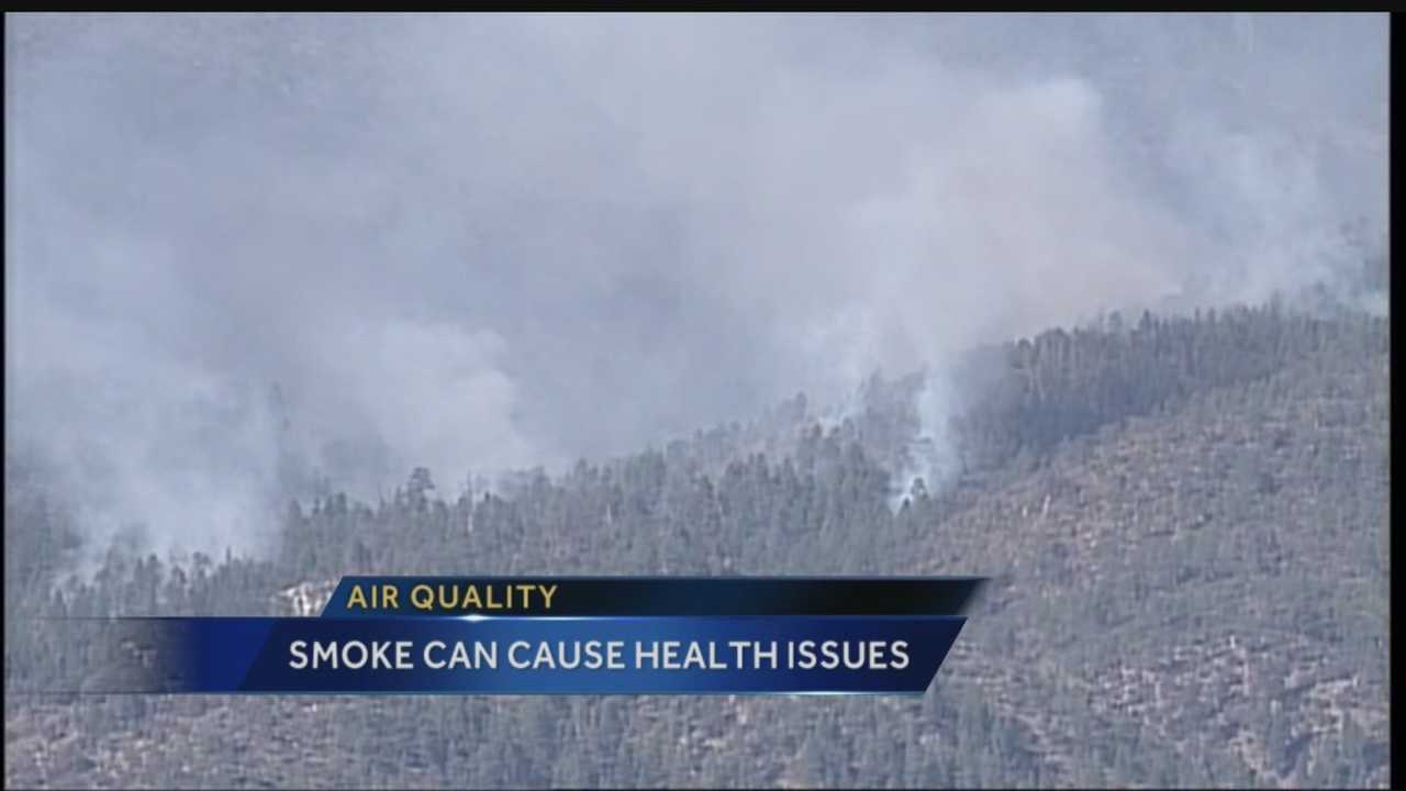Air quality: Smoke can cause health issues