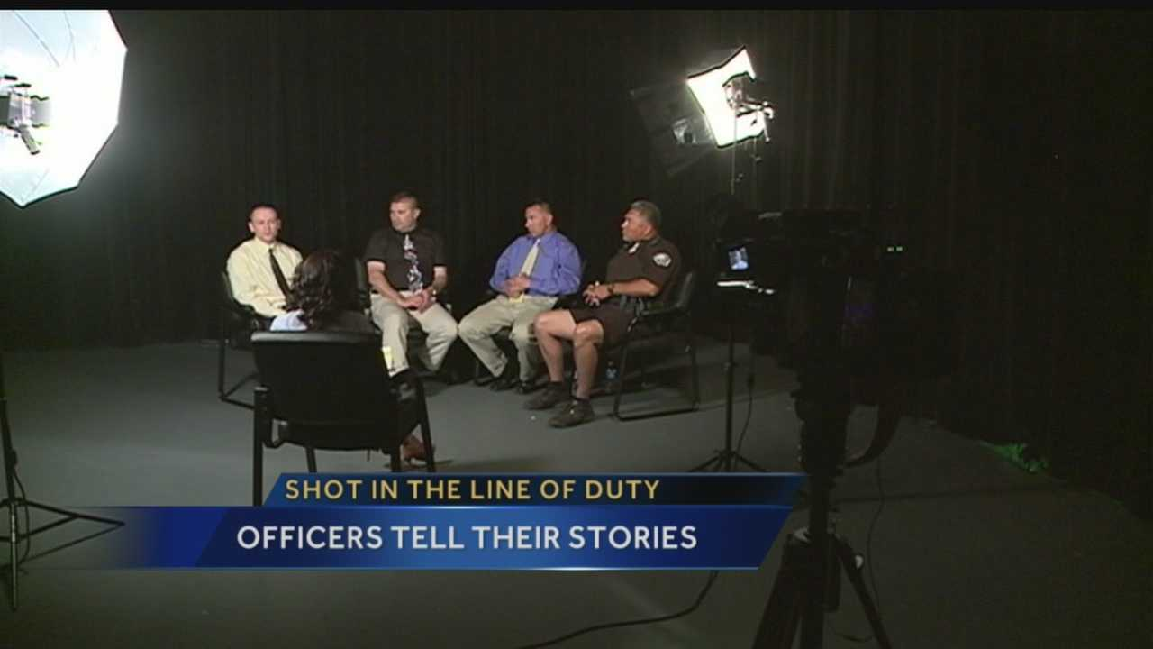 Albuquerque police officers recall getting shot in line of duty
