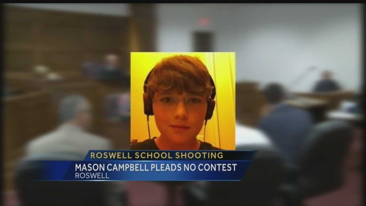 Roswell school shooting: Mason Campbell pleads no contest