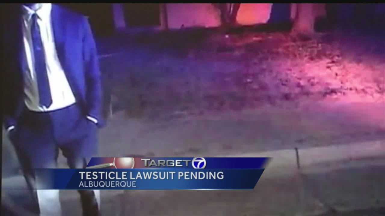 An attorney said his client's testicle was shattered by a cop, and his client plans to sue.