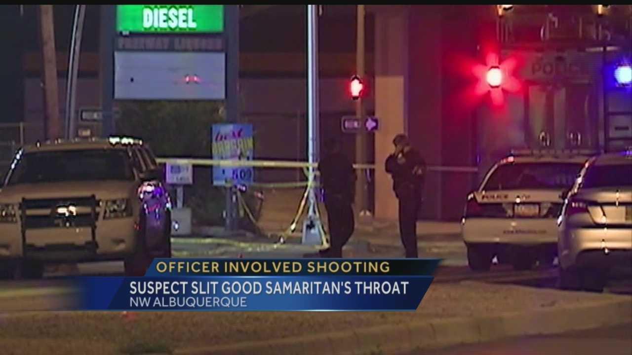 APD-involved shooting: Man slit good Samaritan's throat