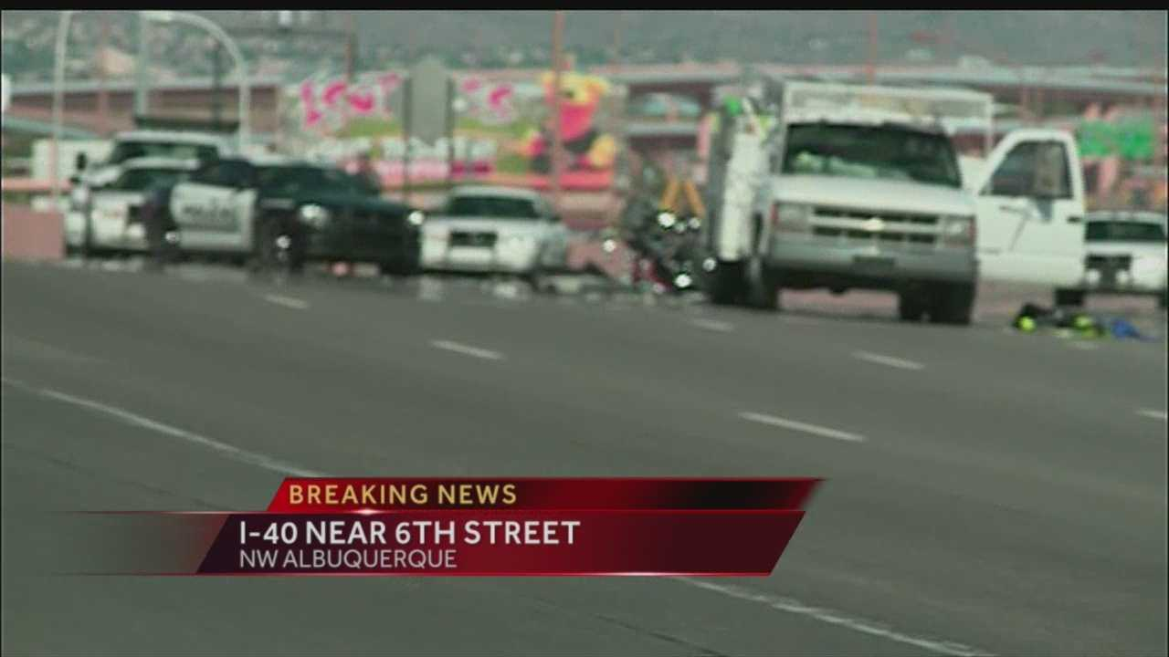 Westbound lanes of Interstate 40 are shut down at University due to a fatal accident.