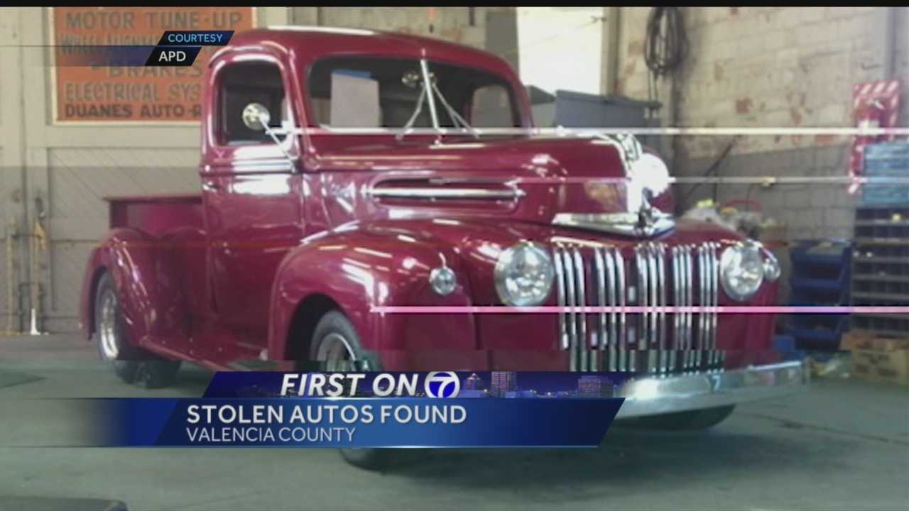 A bright red 1946 classic Ford truck recently stolen was taken to a chop shop in Valencia County, police said.