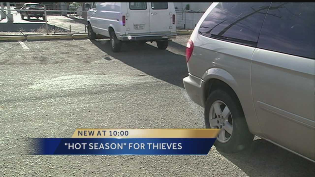APD: Number of car thefts tend to rise with temperature