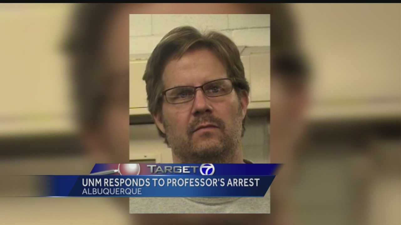 University of NM on arrested professor: 'We will monitor this'