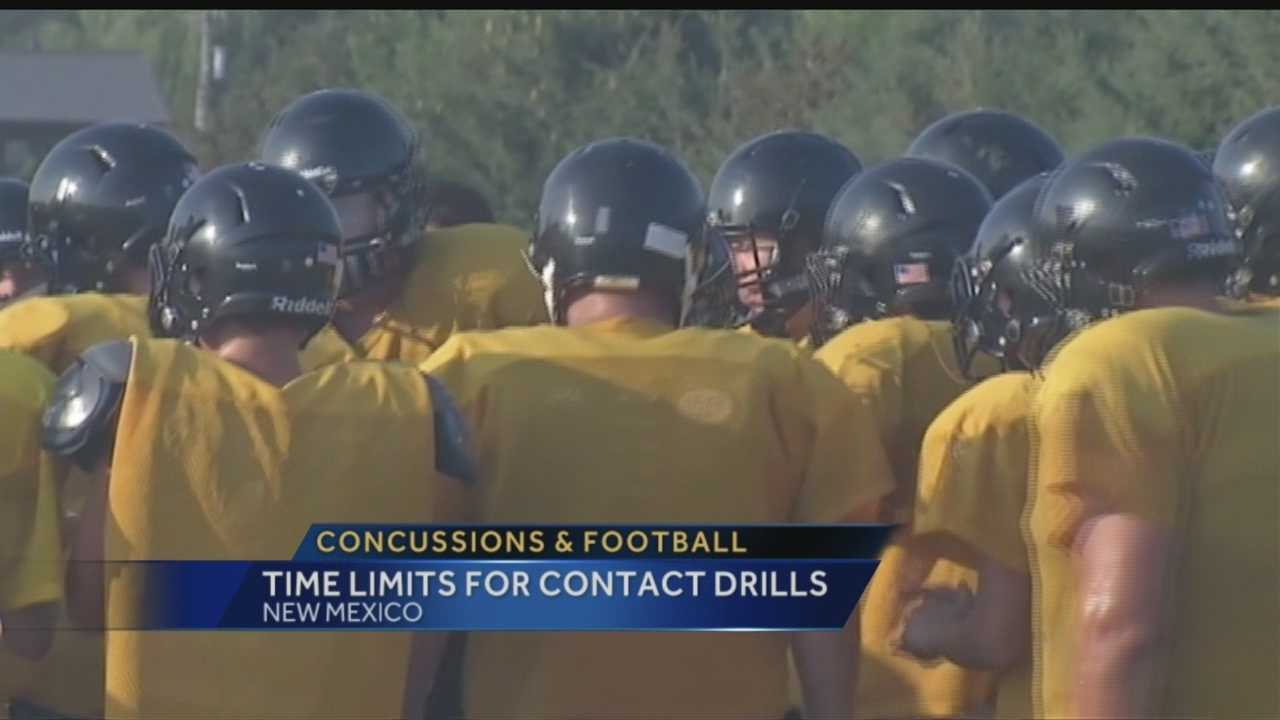 Concussions and football: Time limits for contact drills