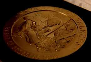 In 2001, Chester Nez and four other Navajo Code Talkers received the Congressional Gold Medal. The medal is the highest civilian honor Congress can give.