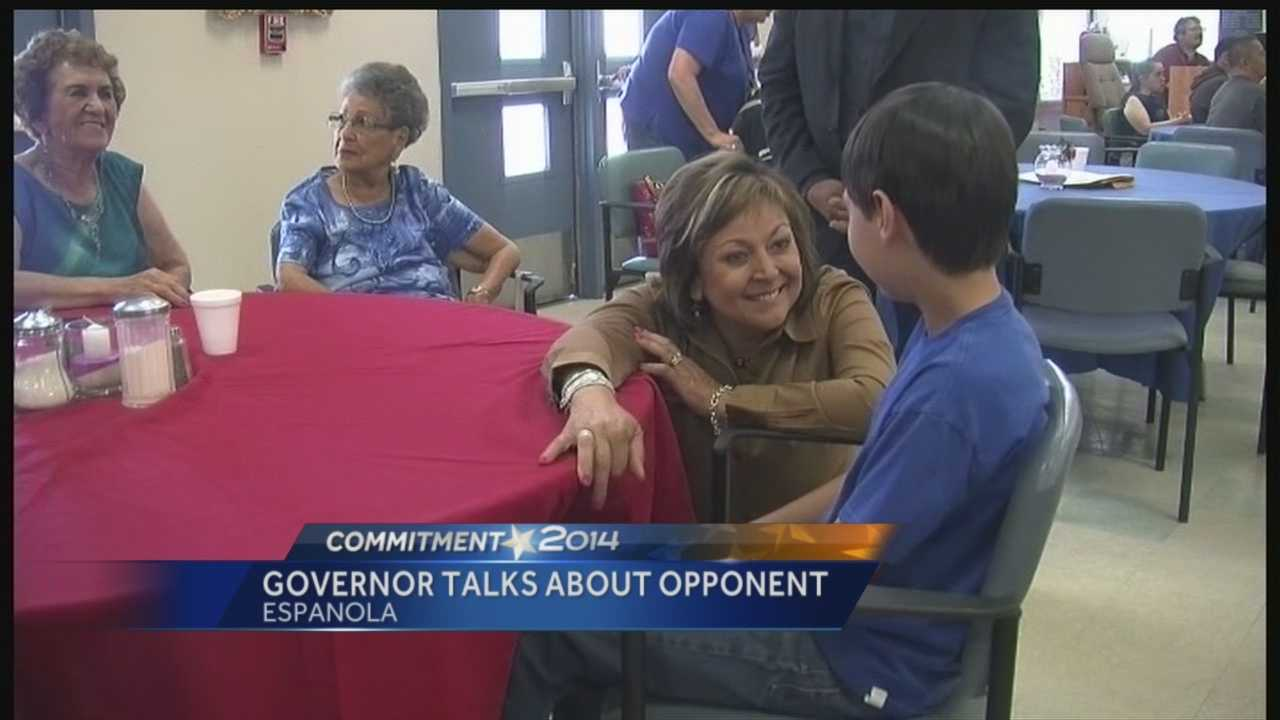 Gov. Martinez talks about Democratic opponent