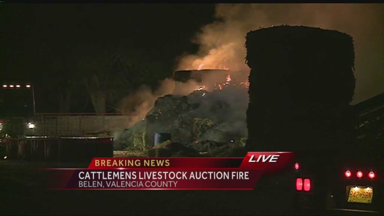 Here's video from a fire in Belen Friday night.