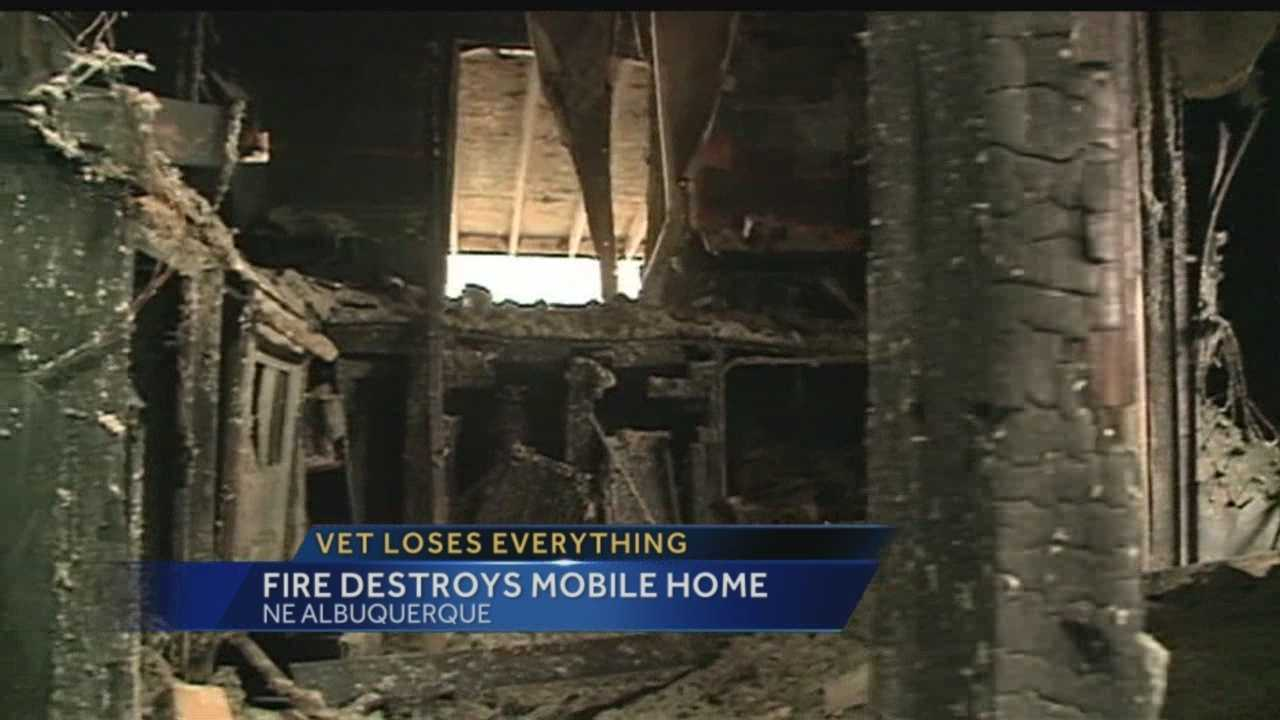An Albuquerque veteran lost everything in a fire, and on Wednesday he ran into even more trouble.