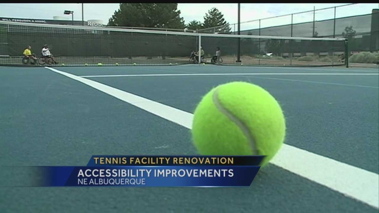 Accessing one of Albuquerque's most popular tennis facilities just got a lot easier for people in wheelchairs.