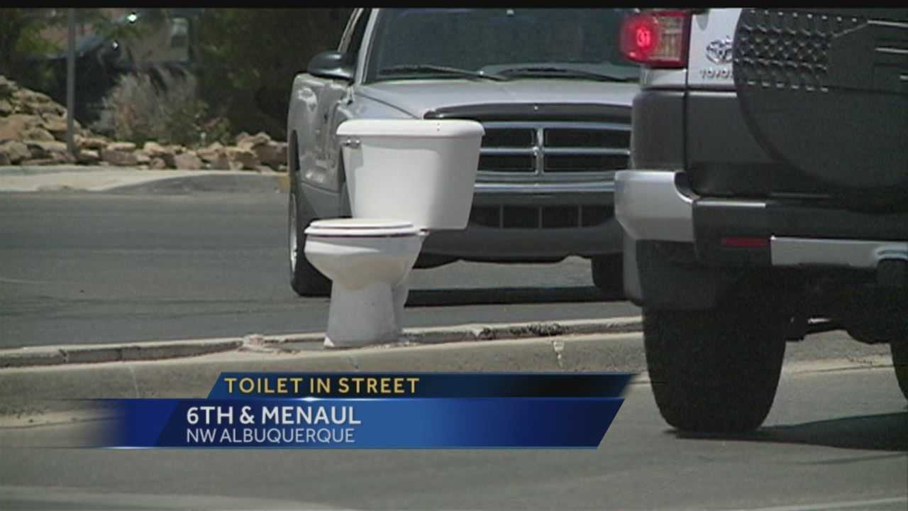 6th and Menaul Toilet In Median
