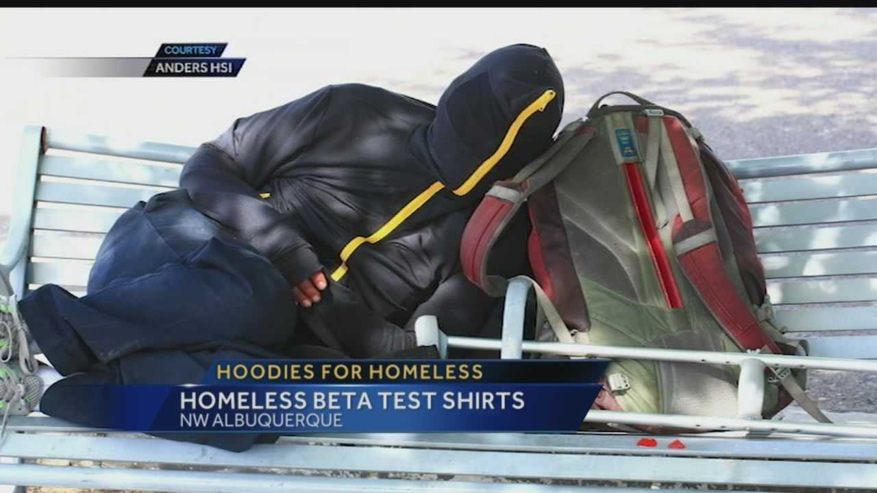 Local clothing designer gives full zip hoodies to ABQ's homeless