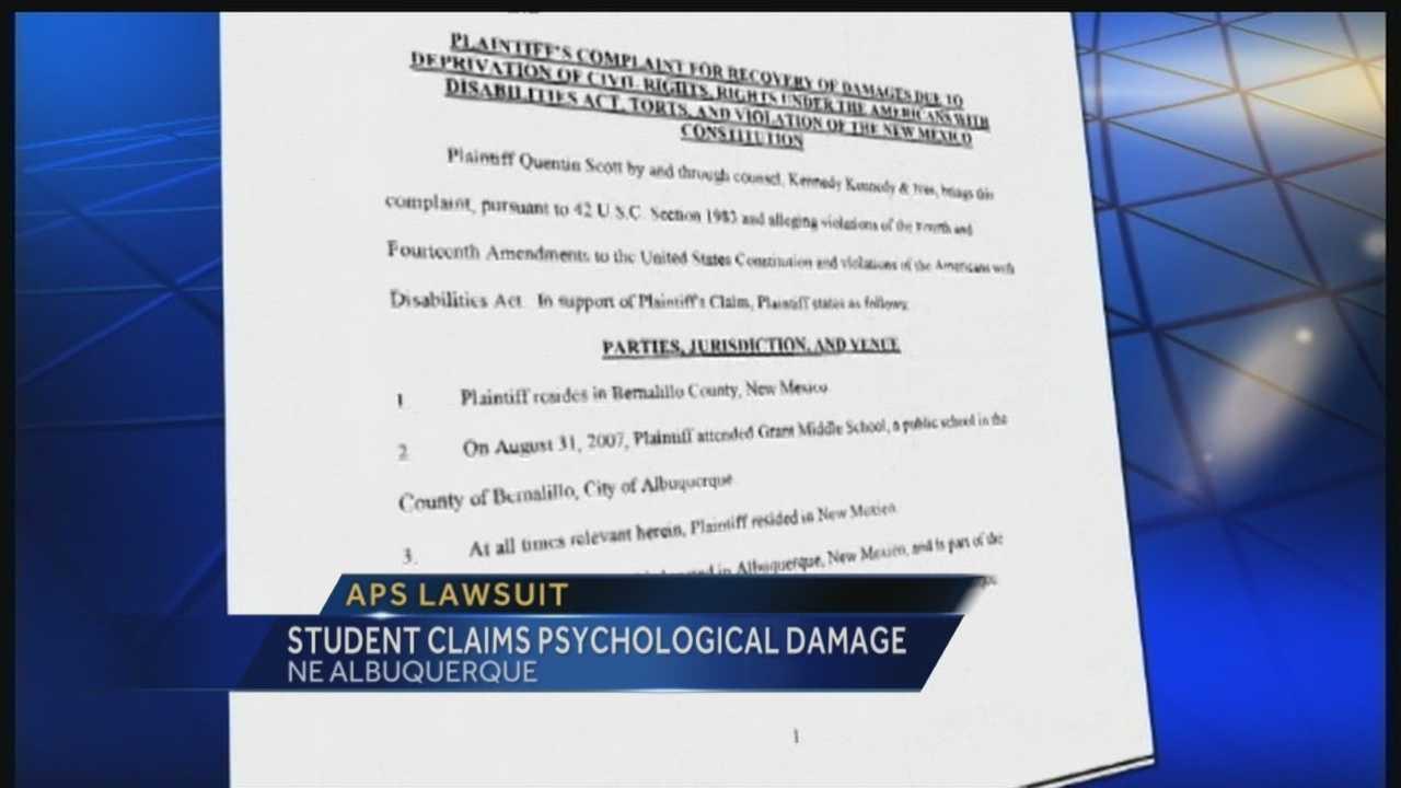 Student sues APS after arrest