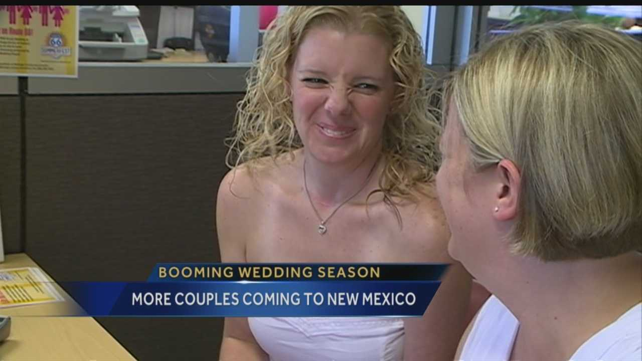 More people are coming to New Mexico to tie the knot, and out-of-state same-sex couples are a big part of the increase.