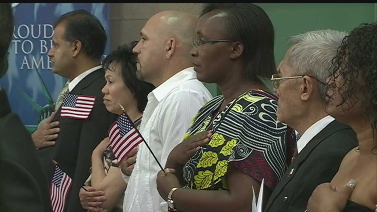 23 people just became American citizens in Albuquerque.  Meanwhile, more people than ever are trying to escape into the US illegally.