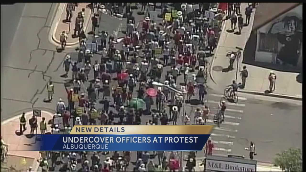 New details: Undercover officers at protest