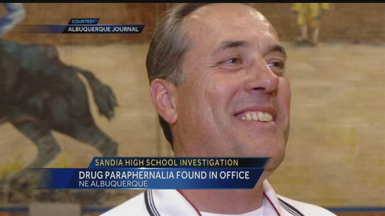 Drug paraphernalia found in office