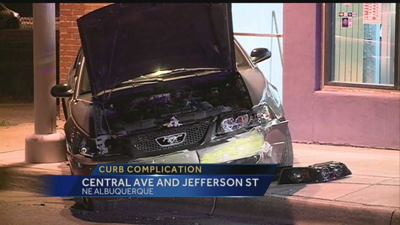 Curb complication: Central Ave. and Jefferson St.