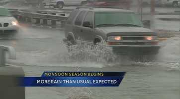 Monsoon season kicked into high gear over the weekend. Check out these 19 images that let you know monsoon season has started