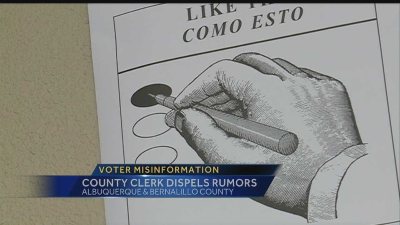 Bernalillo County's clerk has a warning for Albuquerque residents: People trying to help you register to vote may be giving out incorrect information.