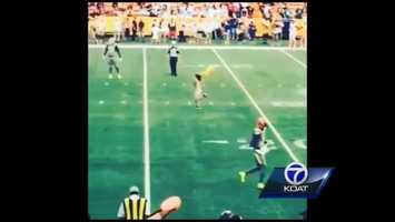 Or that time an Albuquerque woman ran onto the field at the Pro Bowl for a good cause. More Details: http://ow.ly/yYHgz