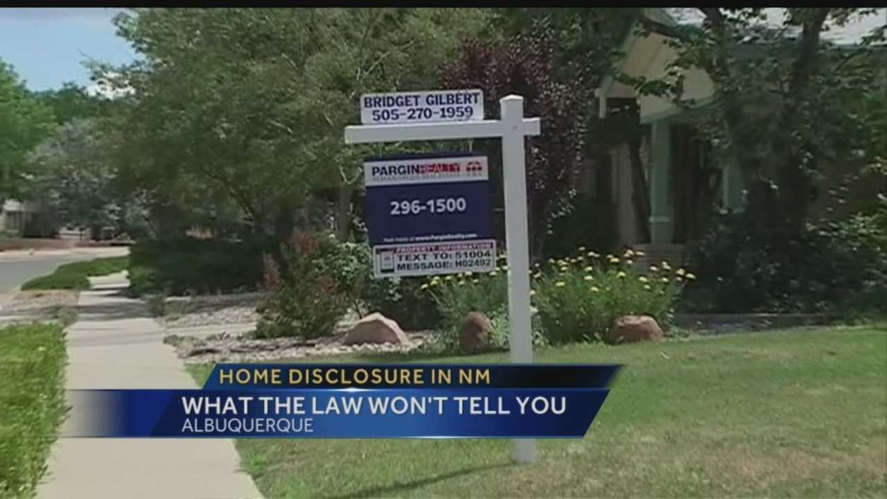 Skeletons in the closet: Home disclosure in NM