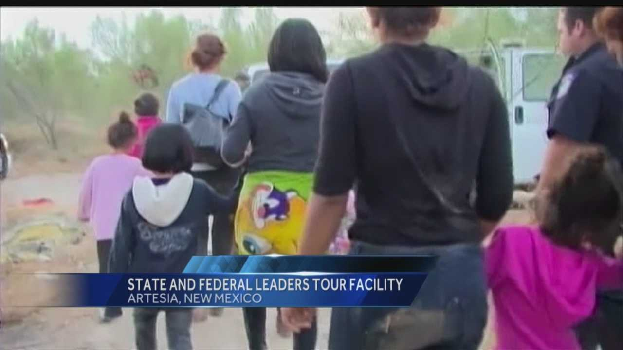 Undocumented immigrants: State, federal leaders tour facility