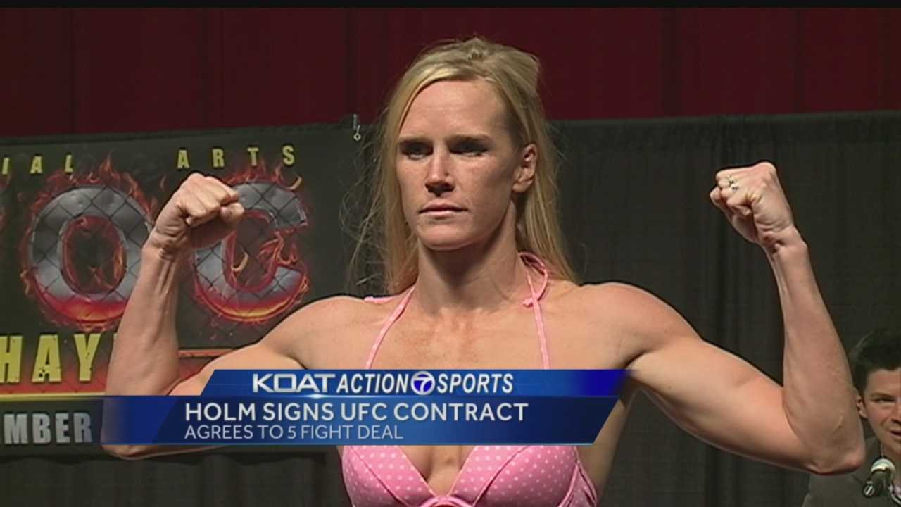 Holm signs with UFC