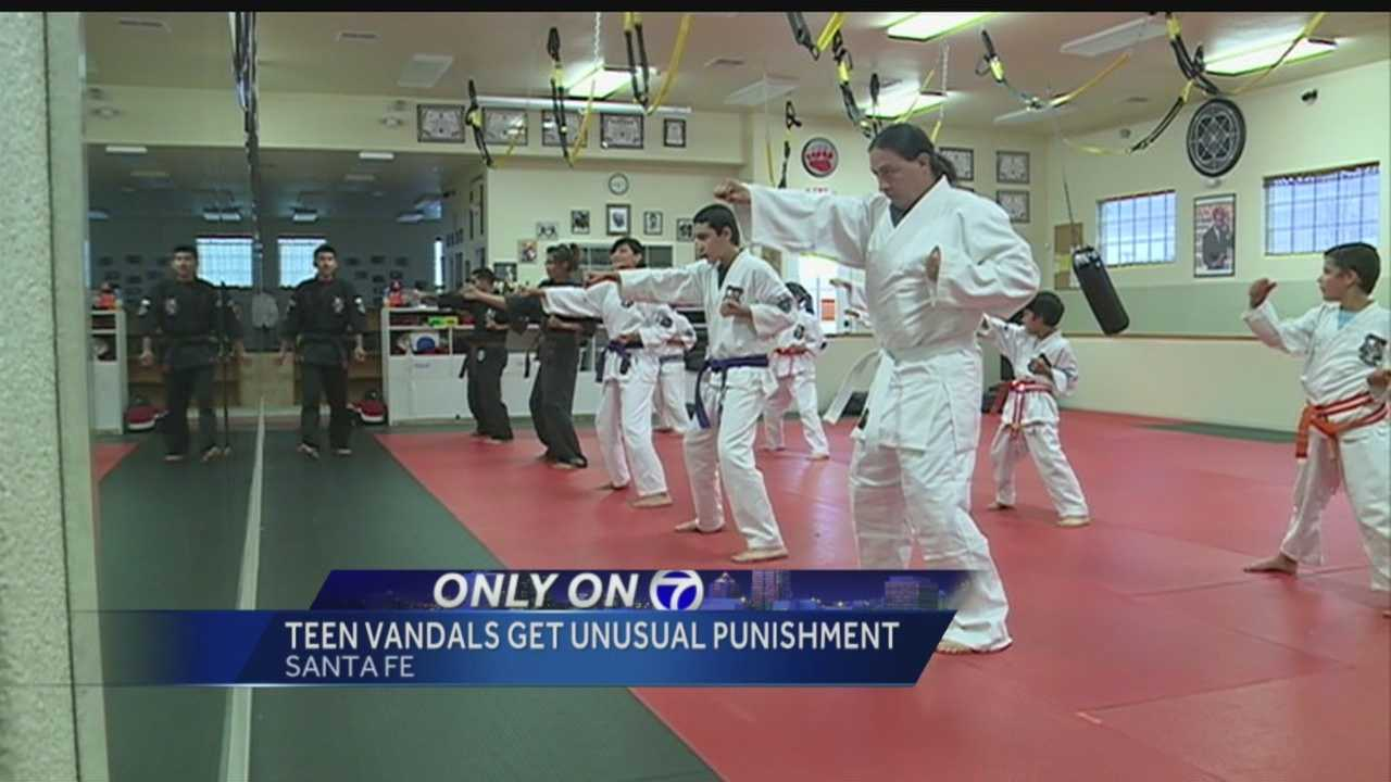 Three teens were recently arrested for vandalizing a Santa Fe dojo, and now the school master literally wants to teach them a lesson.