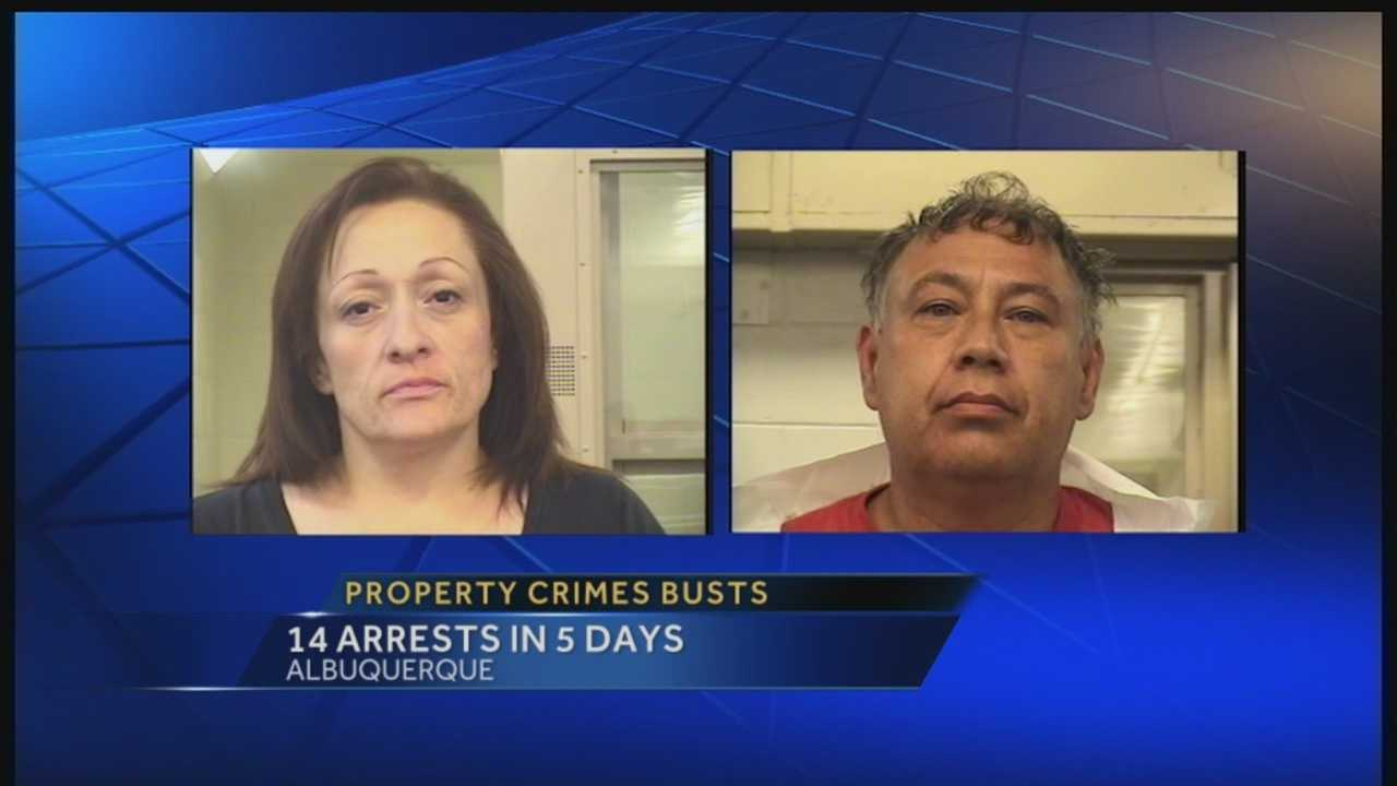 Property crime is a big problem in Albuquerque. That's why APD says, they are working hard to take theft and burglary suspects off the streets