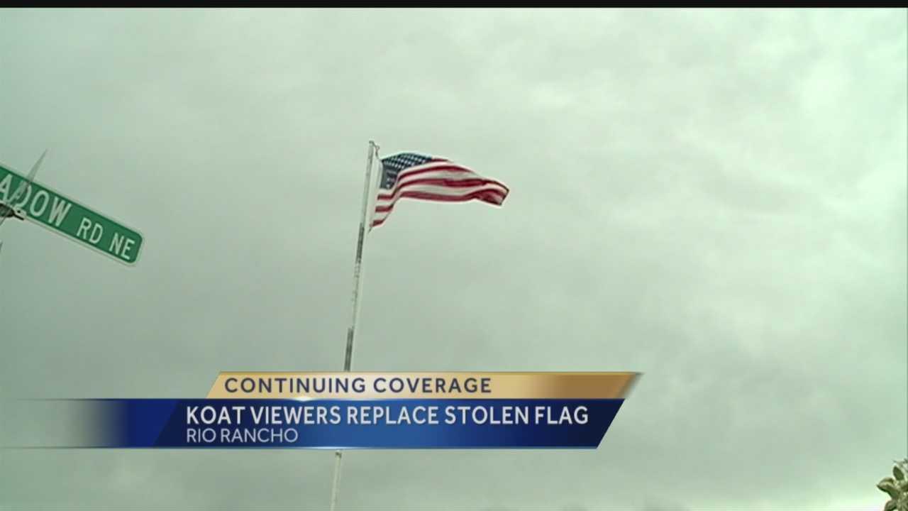 Veteran Gets Flag Back