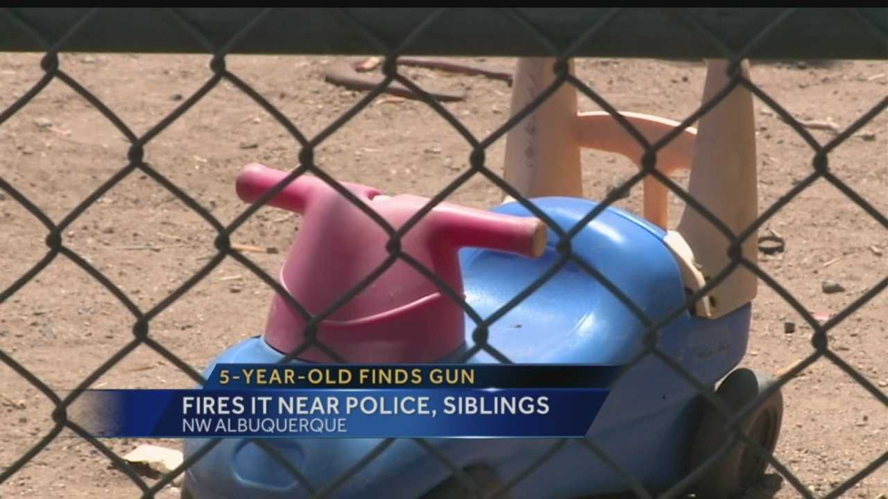 A loaded gun made its way into the hands of a 5-year-old Monday morning in a northwest Albuquerque home.