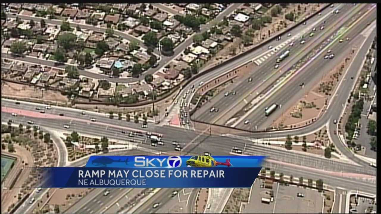 A crack found on the off-ramp of the East I-40 Louisiana Boulevard Exit may soon leave Duke City drivers groaning.