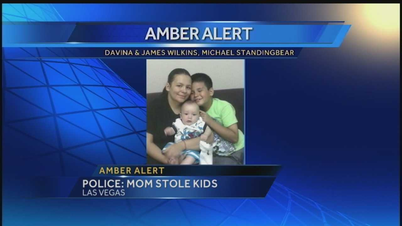 The state police and Las Vegas Police Department have issued an Amber Alert for two children.