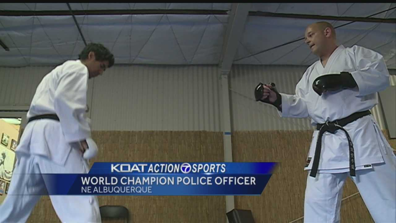An Albuquerque police officer is known for his generosity but what many people don't know, he's a world champion.