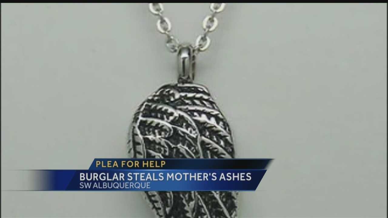 Mom Ashes Stolen