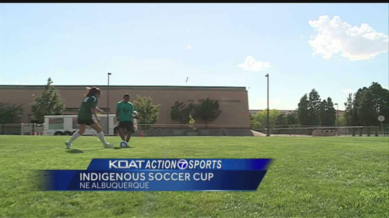 Even though the World Cup is over, soccer is played year-round. Native Americans from across the country are in Albuquerque for the Indigenous Soccer Cup.