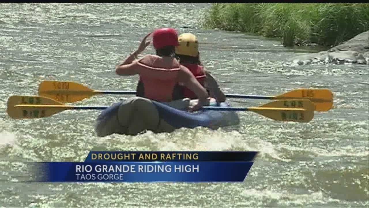 Meteorologist Byron Morton straps on life jacket and hits the rapids, to find out how the drought is affecting the rivers and the popular businesses which rely on them.