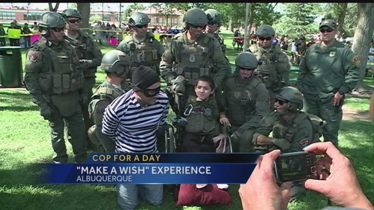 An Albuquerque kid got to live out his dream after APD and Make A Wish Foundation teamed to play out Andrew's wish. .