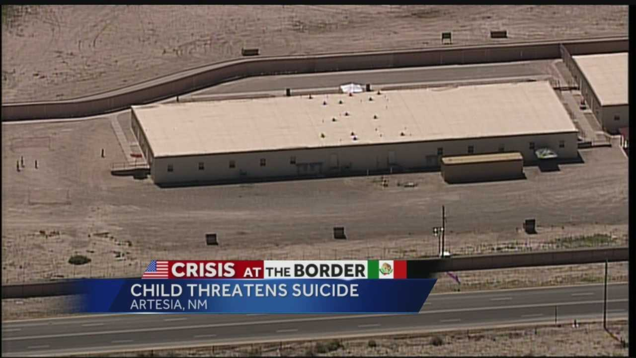 Crisis at the border: Child threatens suicide