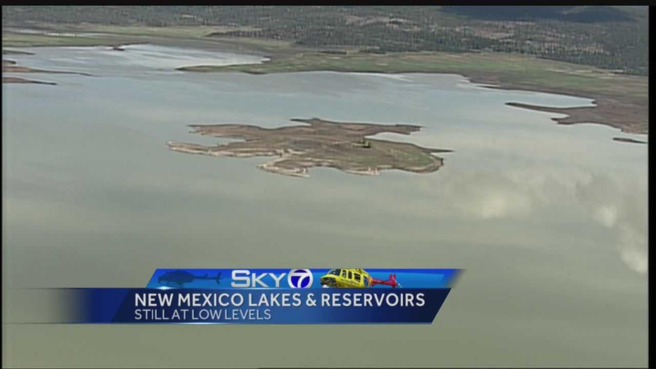 New Mexico has been slammed with rain in the first two weeks of July, but the state's lakes and reservoirs are still starving.