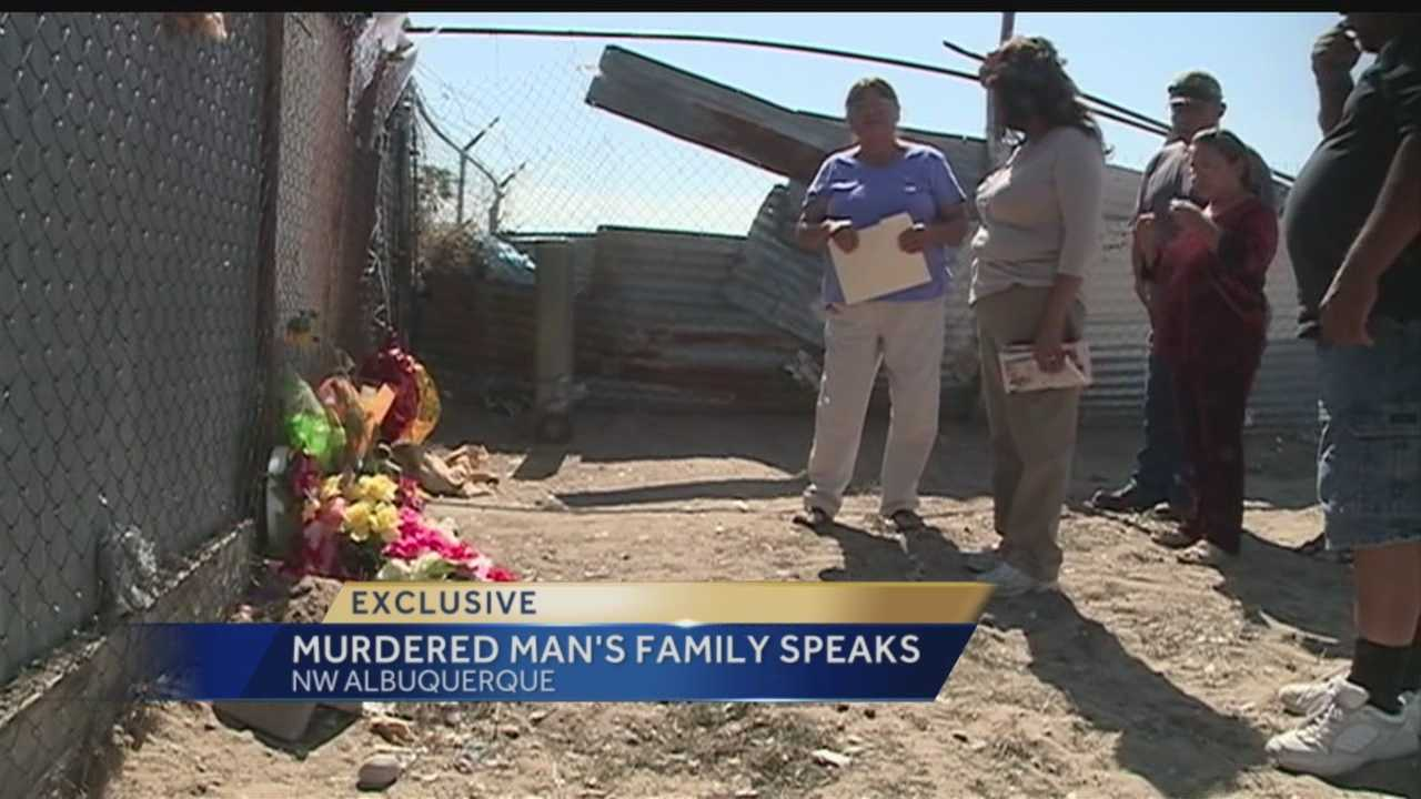 On Thursday, family members of one of the fatal homeless beating victims went to the spot where their loved one was killed.
