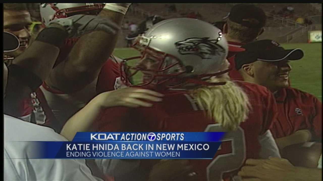 The annual women's football clinic is a University of New Mexico tradition, a chance for participants to learn more about the game and the Lobos.